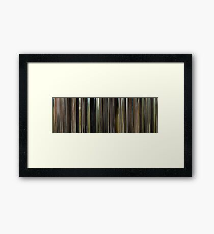 Moviebarcode: Herbstmilch / Autumn Milk (1989) Framed Print