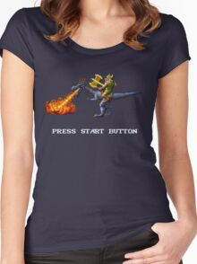 Golden Axe Pixel Style- Retro DOS game fan shirt #2 Women's Fitted Scoop T-Shirt