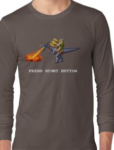 Golden Axe Pixel Style- Retro DOS game fan shirt #2 Long Sleeve T-Shirt