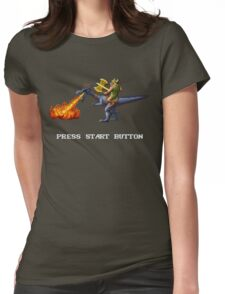 Golden Axe Pixel Style- Retro DOS game fan shirt #2 Womens Fitted T-Shirt