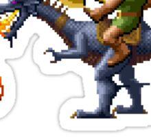 Golden Axe Pixel Style- Retro DOS game fan shirt #2 Sticker