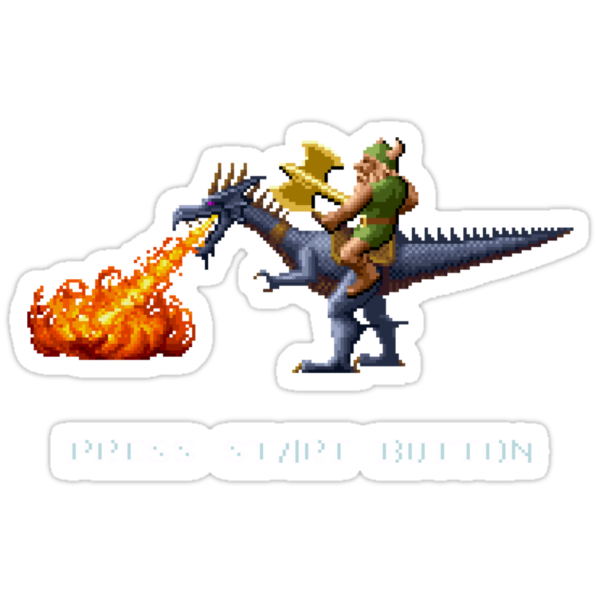 Golden Axe Pixel Style- Retro DOS game fan shirt #2 by hangman3d