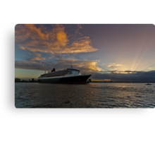 Queen Mary 2 Melbourne Sunrise Canvas Print