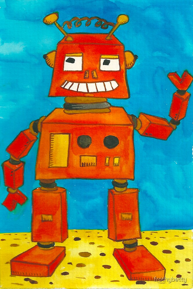 Captain Anuka the robot by frothybetty