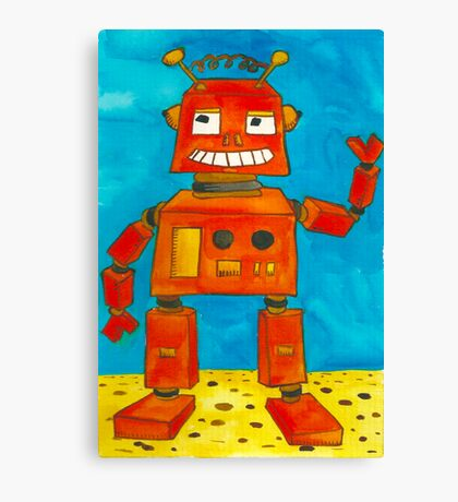Captain Anuka the robot Canvas Print