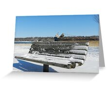 Turning your back to the Harbor Greeting Card