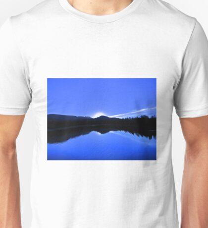 Blue Mirror Lake Unisex T-Shirt