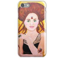 Vanessa, Bug Lover | Acrylic Portrait Painting iPhone Case/Skin