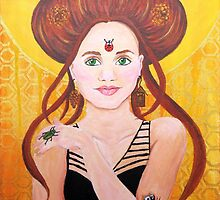 Vanessa, Bug Lover | Acrylic Portrait Painting by Almonda