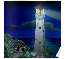 To the moon lighthouse Poster