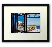 Santorini Reflection Framed Print