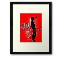 Cowboy in Space Framed Print
