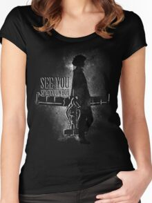 Cowboy in Space Women's Fitted Scoop T-Shirt