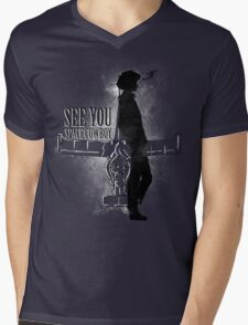 Cowboy in Space Mens V-Neck T-Shirt