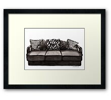If My House Were a Couch Framed Print
