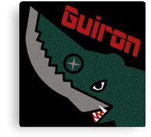 Guiron - Black Canvas Print