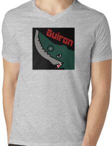 Guiron - Black Mens V-Neck T-Shirt