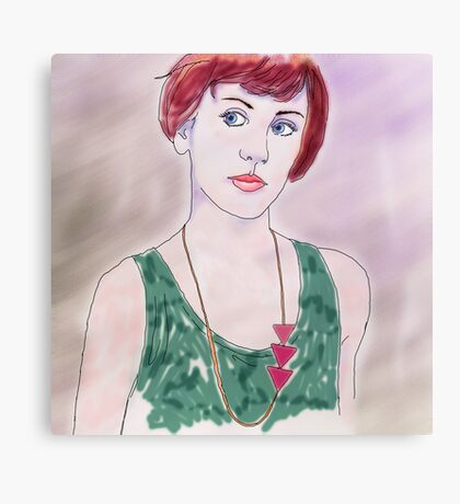YOUNG WOMAN WITH NECKLACE Canvas Print