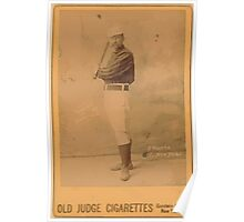Benjamin K Edwards Collection Jim O'Rourke New York Giants baseball card portrait 001 Poster