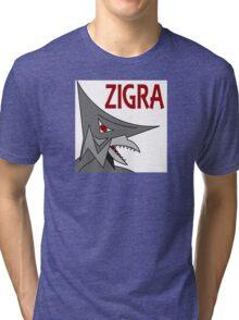 Zigra - White  Tri-blend T-Shirt