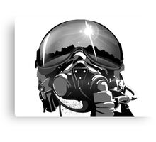 Fighter Pilot Helmet and Mask Canvas Print