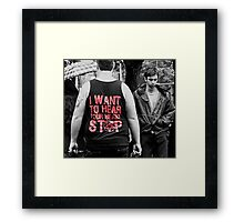 be still my beating heart Framed Print