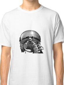Fighter Pilot Helmet and Mask Classic T-Shirt