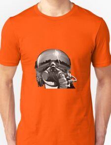 Fighter Pilot Helmet and Mask Unisex T-Shirt