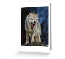 Angry like the wolf Greeting Card