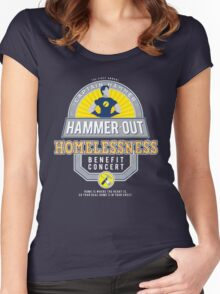 Hammer-Out Homelessness Women's Fitted Scoop T-Shirt