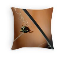Jewel Spider Throw Pillow
