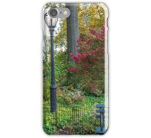 Lamppost and Bench iPhone Case/Skin