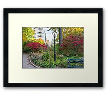 Lamppost and Bench Framed Print