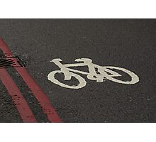 Bike Red Lines Photographic Print