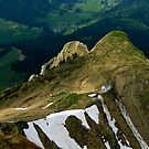 looking down from Mount Pilatus, Switzerland by geof