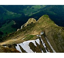 looking down from Mount Pilatus, Switzerland Photographic Print