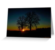 When the Sun Sets Greeting Card