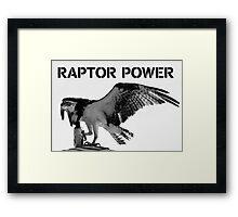Raptor Power Framed Print