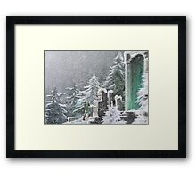 Snow Temple Framed Print