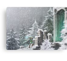 Snow Temple Canvas Print