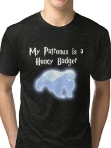My Patronus is a Honey Badger Tri-blend T-Shirt