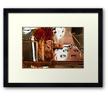 Rusty Latch Framed Print