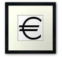 euro money Framed Print
