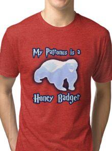 My Patronus is a Honey Badger Tri-blend T-Shirt