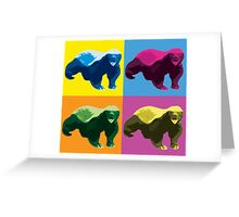 Warhol Style Honey Badger Greeting Card