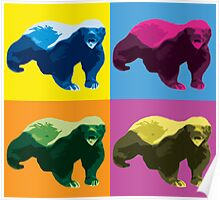 Warhol Style Honey Badger Poster