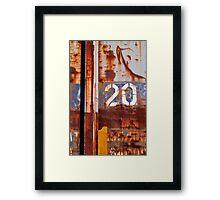 2 0 Framed Print
