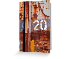 2 0 Greeting Card