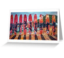 Agnes Water Longboard Classic No 2 2012 Greeting Card