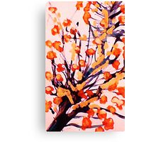 Cherry Blossoms, watercolor Canvas Print